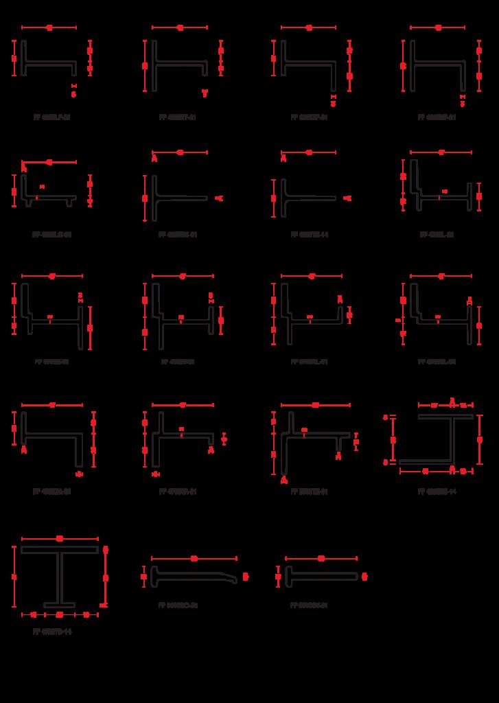ARC Steel Windows W40 Profile Range